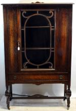 Antique Maple China Cabinet By Krug Brothers Co.