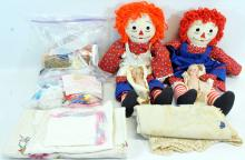 Raggedy Ann & Andy, Trolls, misc.dolls and clothes