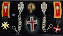 Nine Masonic Ceremonial Medals