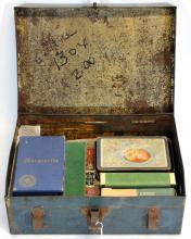 Vintage Tin Box with 8 Sets of Playing Cards
