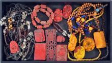 Vintage Jade And Soapstone Prayer Beads