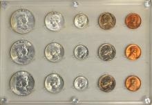 15 Pc Us Mint 1954 Coin Set Uncirculated In Holder
