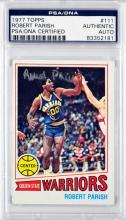 1977 Topps Robert Parish Rookie Signed Card