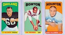 64 1965 Topps Football Cards With Checklist