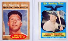 Four Vintage Mickey Mantle Cards