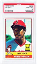 1976 Topps Jim Rice Card PSA 8