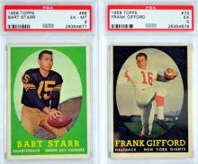 5 1958 Topps Psa Graded Football Cards