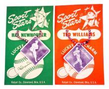 Four Original 1950's Baseball Locky Key Charms