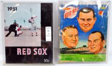 9 1950's Red Sox Year Books