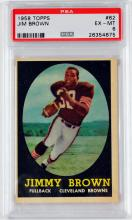 1958 Topps Jim Brown Rookie Psa Ex/mt 6