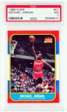 1986 Fleer Michael Jordan Rookie PSA NM 7