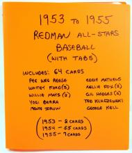 64 1953-55 Red Man Baseball All-Stars with Tabs