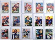 54 1951 Bowman Football Cards