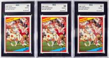 12 1984 Topps Dan Marino Graded Rookie Cards