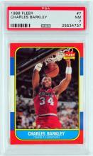 1986 Fleer Charles Barkley Rookie Card PSA 7