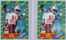 Two 1986 Topps Jerry Rice Rookies