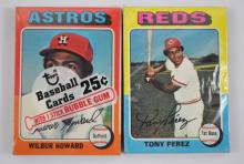 Two 1975 Topps Unopened Cello Packs