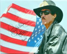 Richard Petty Autographed Canvas 20x16 Jsa Coa