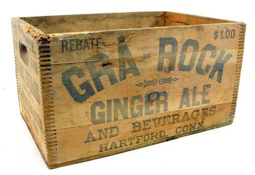 gra rock ginger ale advertising wooden box. Black Bedroom Furniture Sets. Home Design Ideas