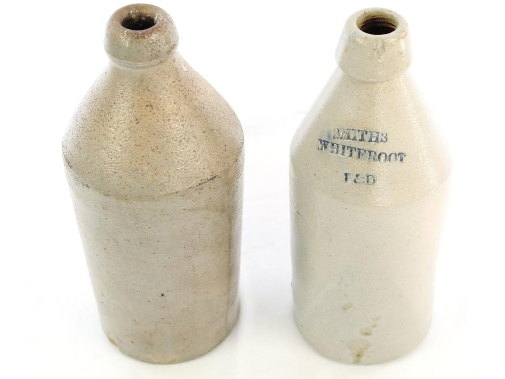 Two Antique Stoneware Bottles