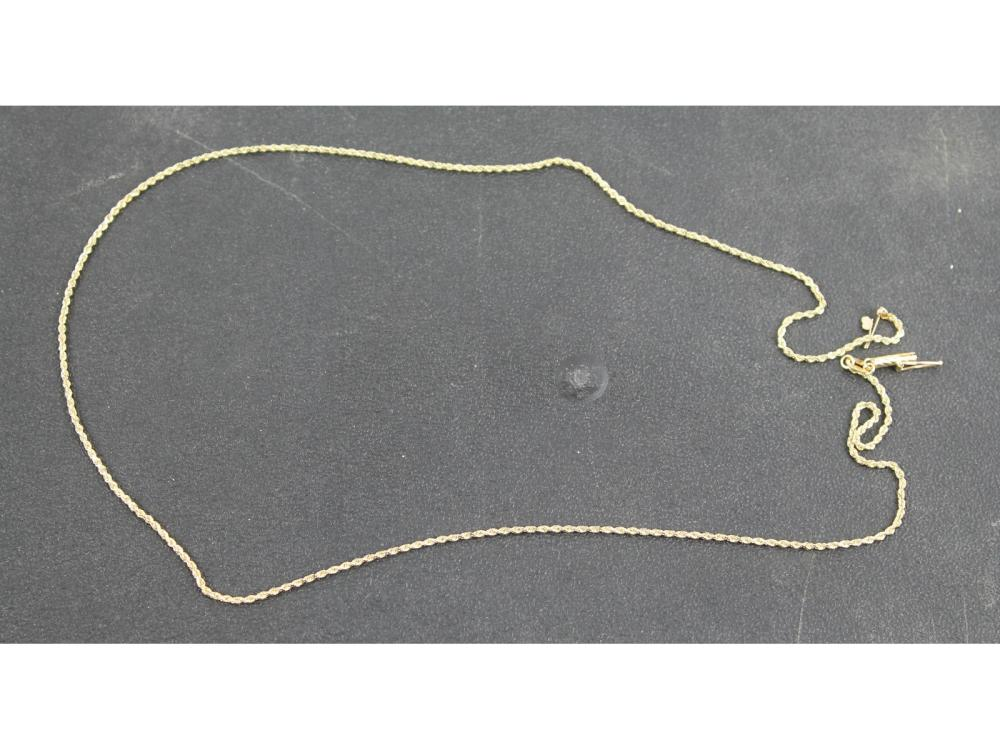 Ladies 14kt. Gold Rope Necklace 4 Grams
