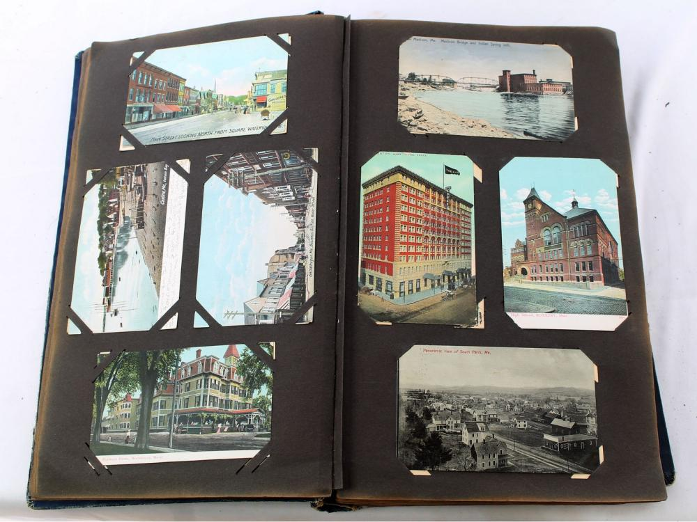 Large Maine Postcard Album Over 350 Cards
