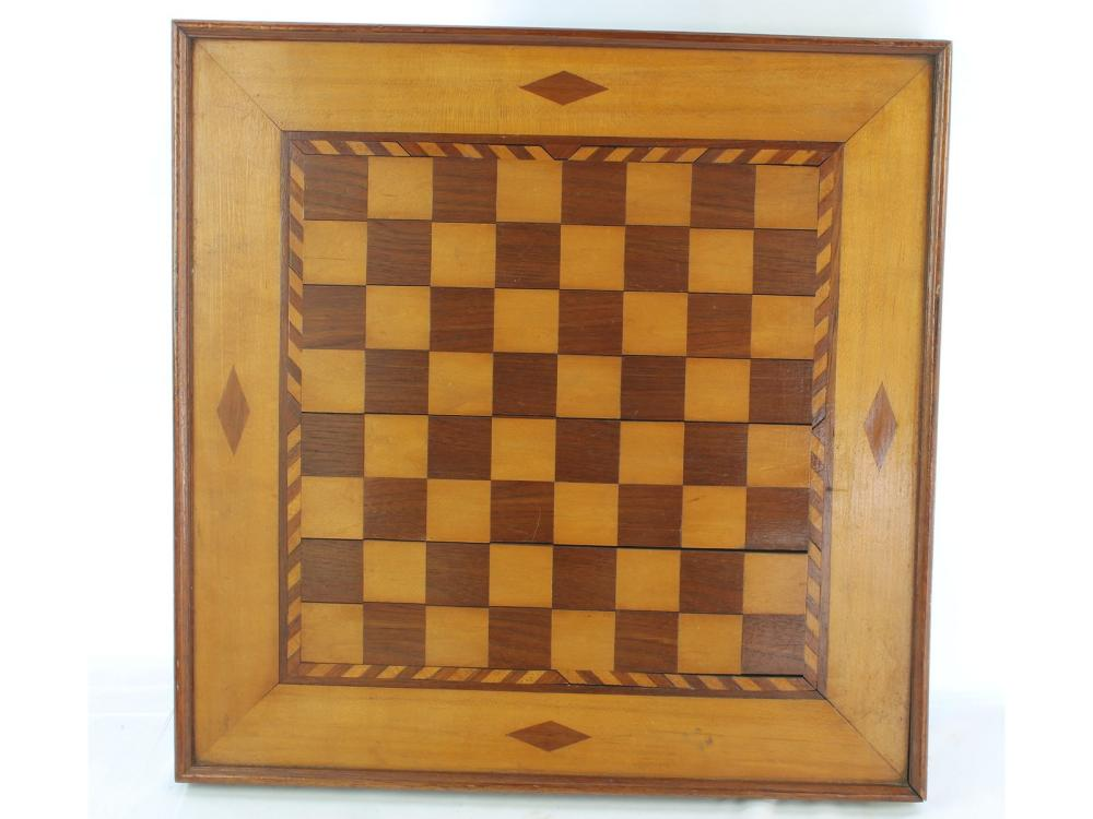 Vintage Inlaid Checkerboard