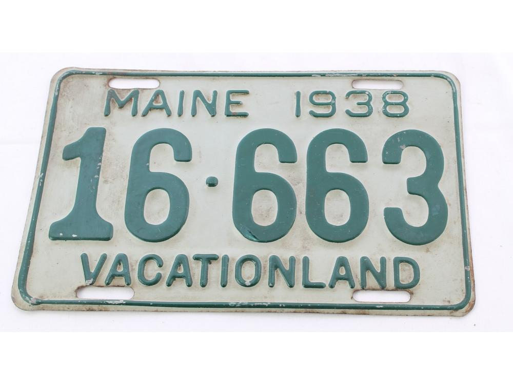 Pair Of 1938 Maine License Plates