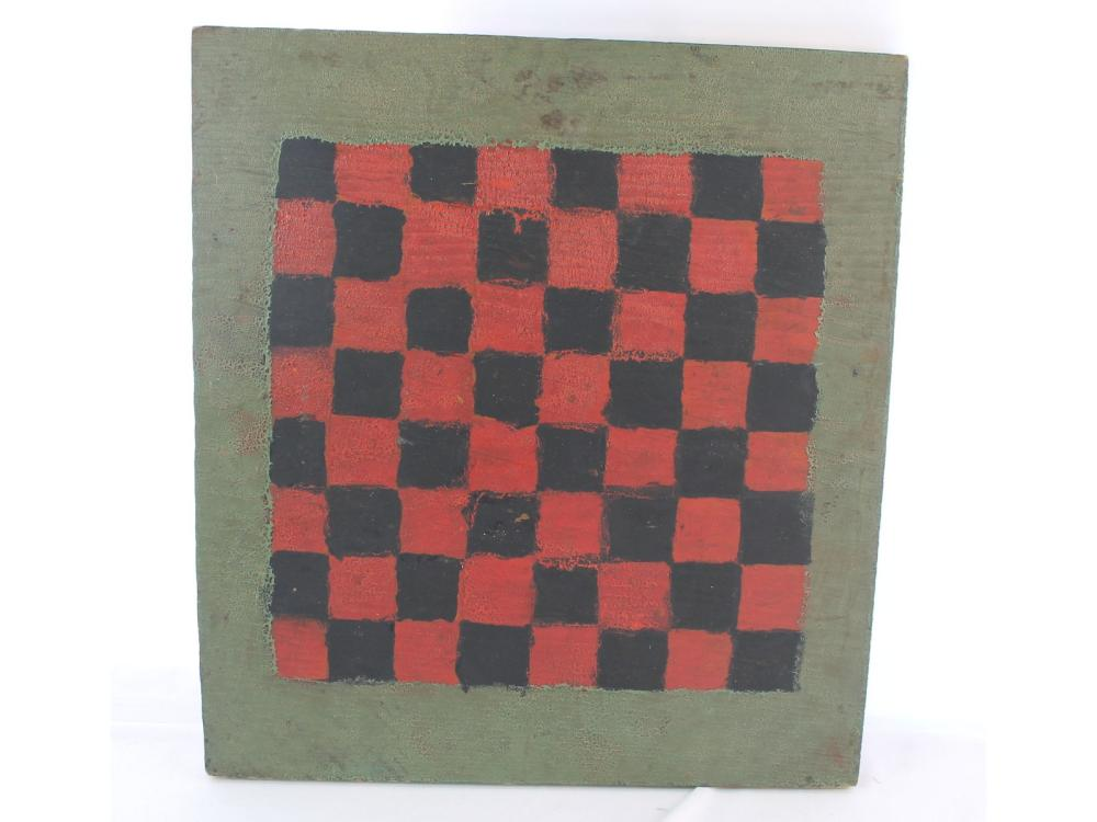 Vintage Green,red And Black Maine Checkerboard