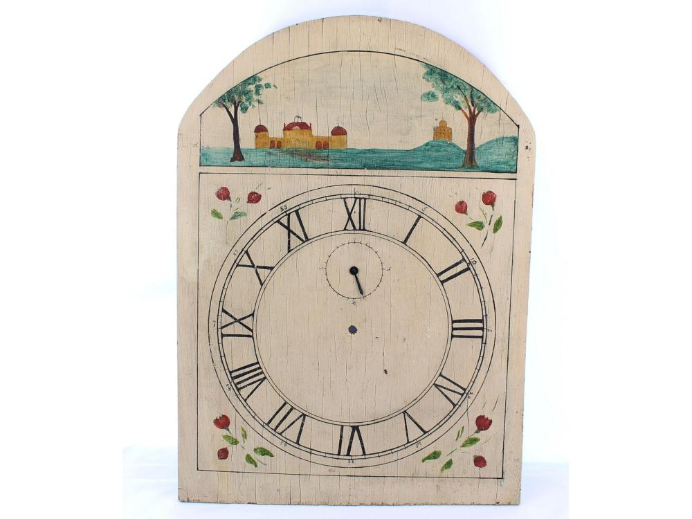 19th Century Wooden Clockface