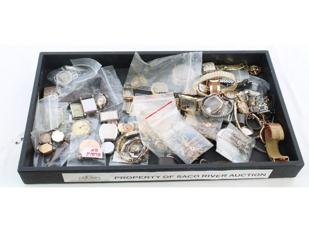 Large Collection Of Watches And Watch Parts