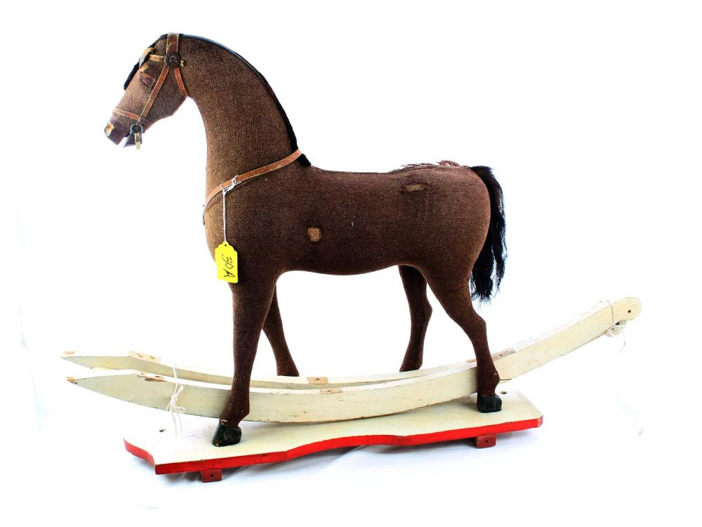 Antique Straw Filled Horse Riding Toy