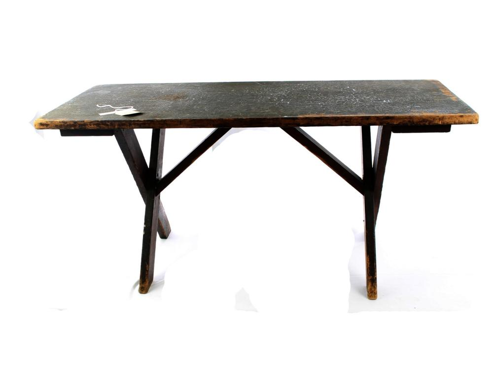 Antique Sawbuch Base Coffee Table