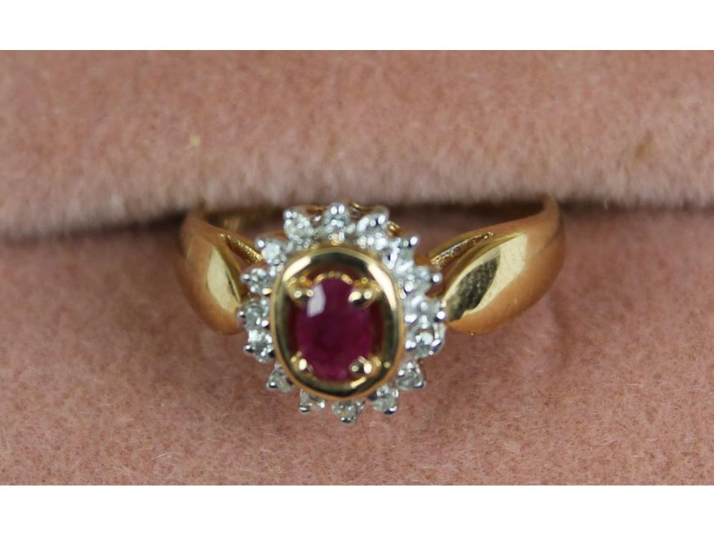 Ladies 14kt. Gold Gemstone Ring 3 Grams