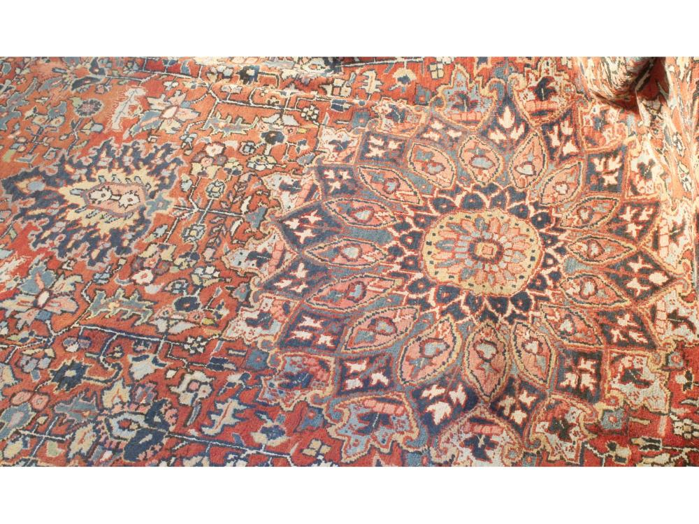 Antique Heriz Rug From Portland Home