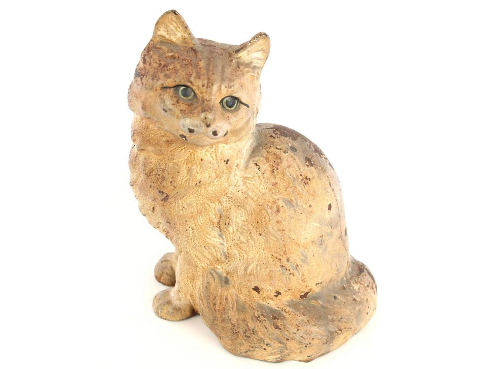 Antique Full Body Cat Doorstop