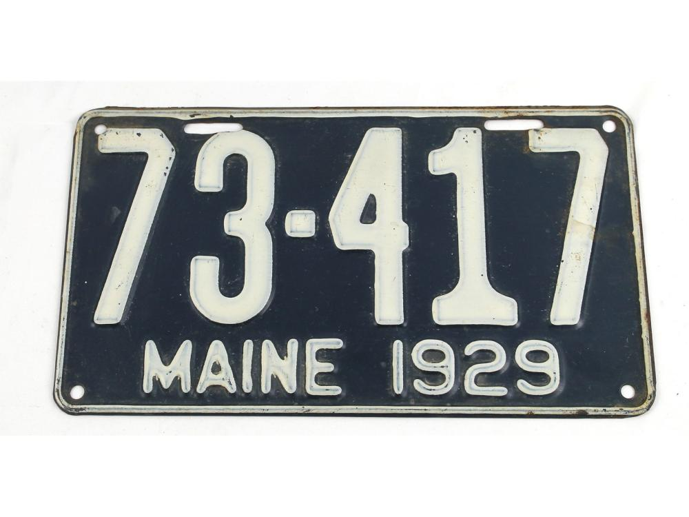 Two Pair Of Vintage Maine License Plates