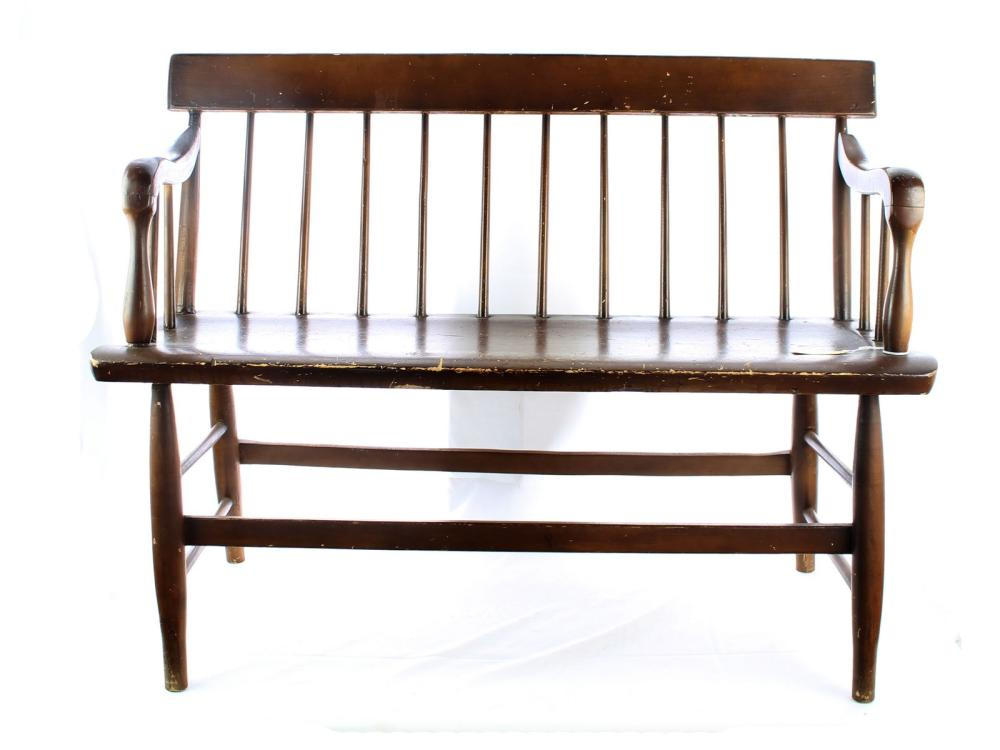 Small 4 Foot Deacons Bench