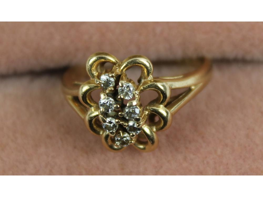14kt. Gold Ladies Diamond Ring 3 Grams
