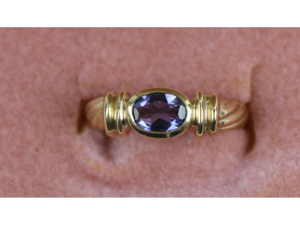 Ladies 10kt. Gold Gemstone Ring 3 Grams