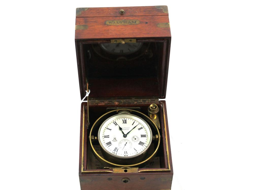 Antique Waltham 8 Day Ships Clock
