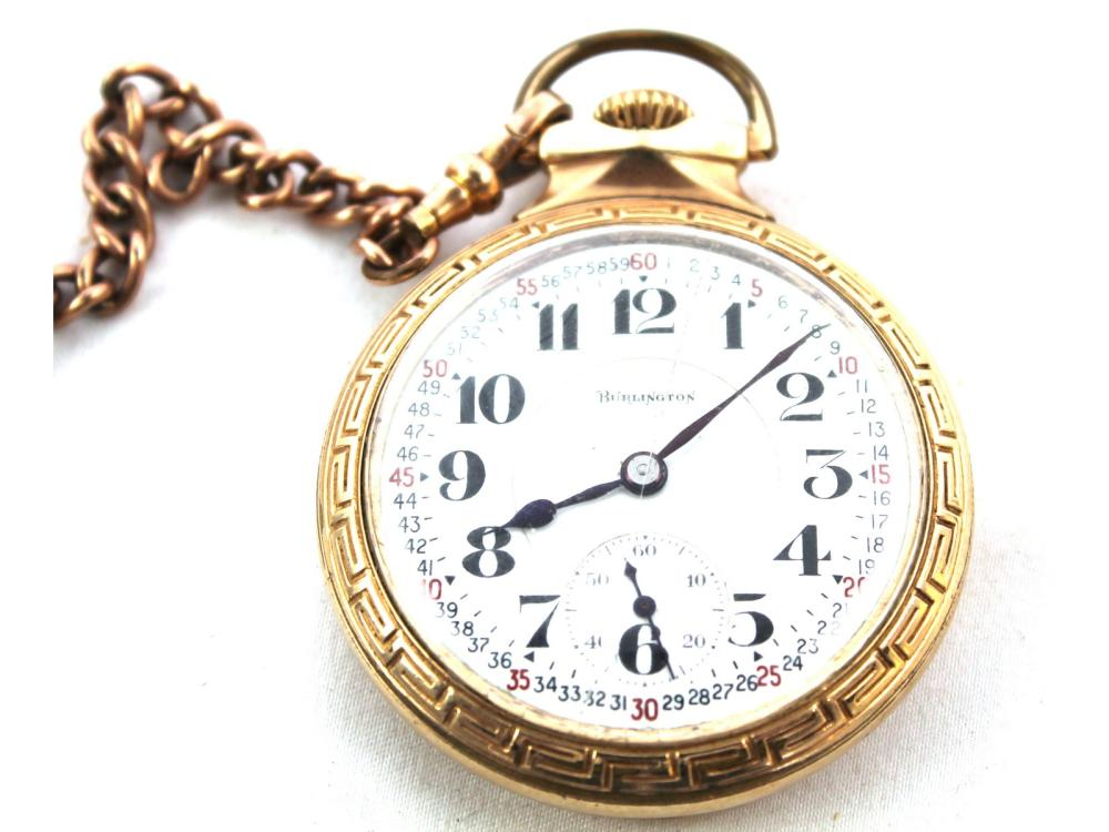 Antique 21 Jewel Burlington Pocket Watch