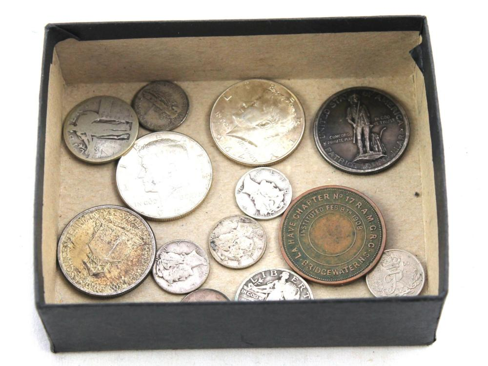 Small Collection Of Us Silver Coins