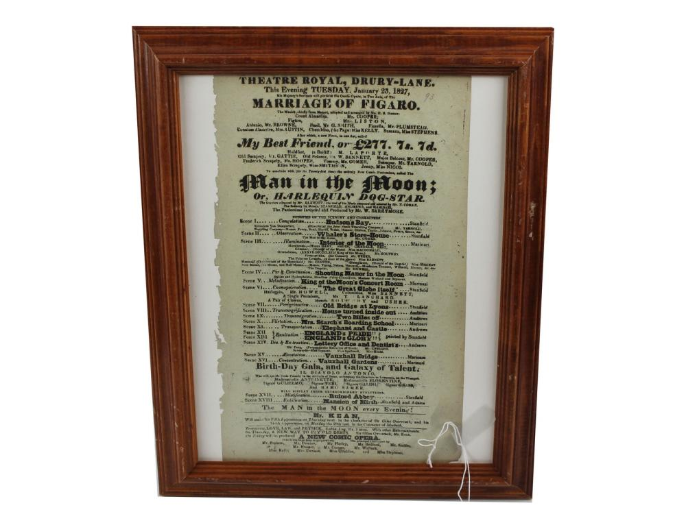 Original 1827 Theatre Royal Broadside