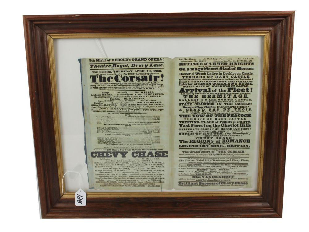 Original 1836 Theatre Royal Broadside