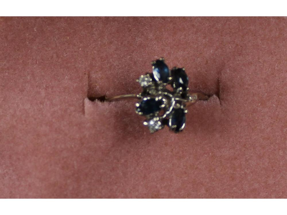 Ladies 14kt. Gold Gemstone And Diamond Ring