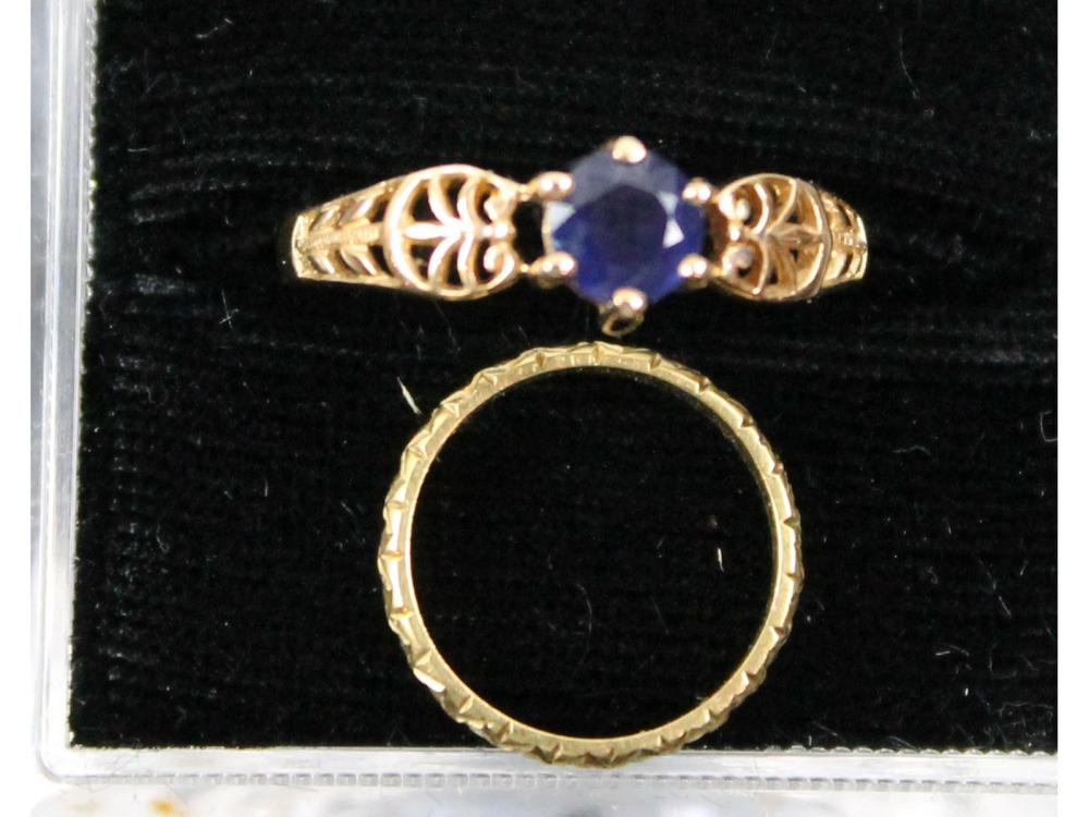Two Gold Rings 14kt. 10kt. 3 Grams