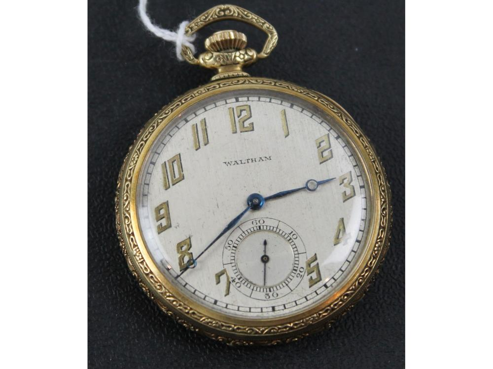 Antique Waltham Pocket Watch In Running Condition