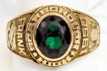 10kt. Gold Scarborough High School Class Ring 1950