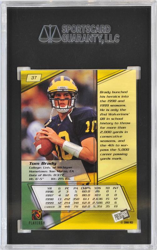 2000 Press Pass Tom Brady Rookie Card